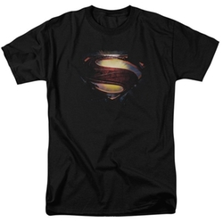 "Superman Man of Steel Grungy ""S"" Shield T-Shirt 2013 Movie T-Shirt by Trevco in The Big Bang Theory"