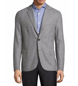 Laser-Cut Wool Blend Jacket by Eleventy in Quantico