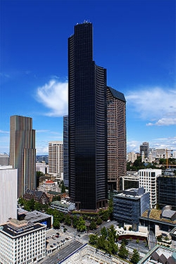 Seattle, Washington by Columbia Center in Fifty Shades of Black