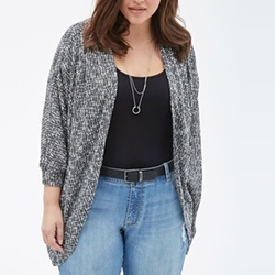 Marled Knit Dolman Cardigan Sweater by Forever 21 in Modern Family