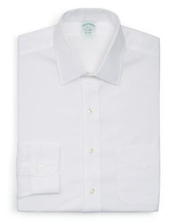 Solid Non–Iron Dress Shirt by Brooks Brothers in Ballers