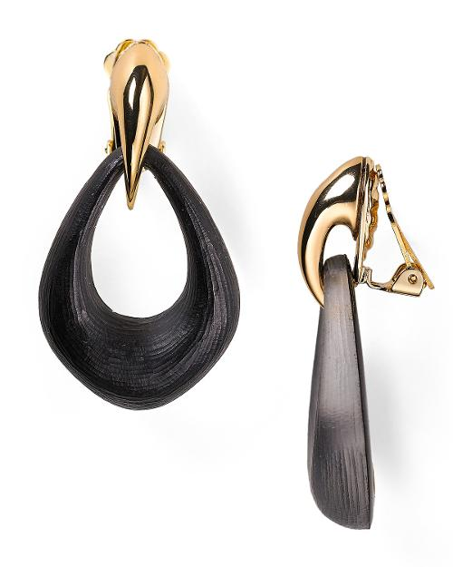 Claw Capped Lucite Clip On Earrings by Alexis Bittar in Get On Up