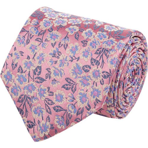 Floral Pattern Jacquard Neck Tie by Penrose London in Unfinished Business