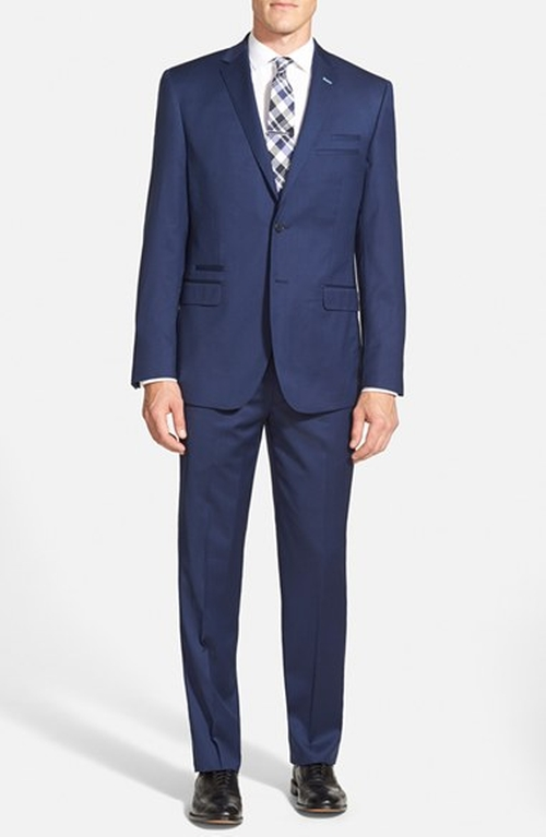 Trim Fit Solid Wool Suit by English Laundry in Suits - Season 5 Episode 7