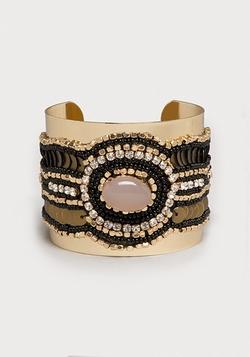 Seed Bead & Crystal Cuff Bracelet by Bebe in Pretty Little Liars