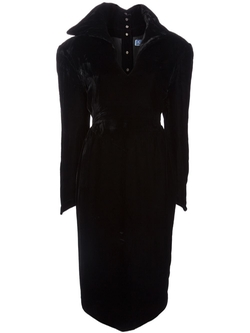 Over-Sized Collar Dress by Thierry Mugler Vintage in Spy