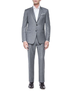 Bayard Sharkskin Two-Piece Wool Suit by Paul Smith	 in Black Mass