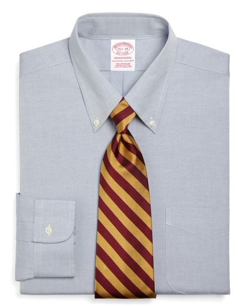 Traditional Fit Button-Down Collar Dress Shirt by Brooks Brothers in The D Train