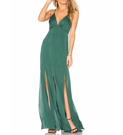 Low Back Fitted Cami Gown by Haute Hippie in Quantico