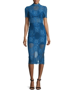 Delila 3/4-Sleeve Lace Midi Dress by Alexis in Shadowhunters