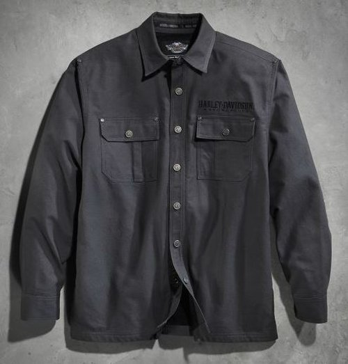 Men's Sherpa Fleece-Lined Shirt by Harley Davidson in Vice