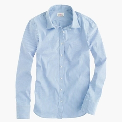 Classic Stripe Stretch Perfect Shirt by J. Crew in Pitch Perfect 3
