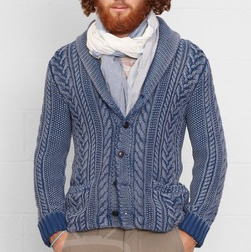 Cable Knit Shawl Cardigan by Ralph Lauren  in Keeping Up With The Kardashians - Season 12 Preview