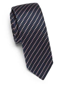 Diagonal Stripe Silk Tie by Hugo Boss in Suits