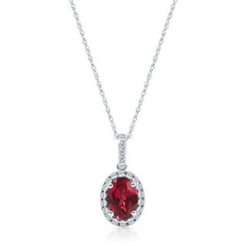 Lab-Created Ruby Pendant Necklace by Helzberg Diamonds in Avengers: Age of Ultron