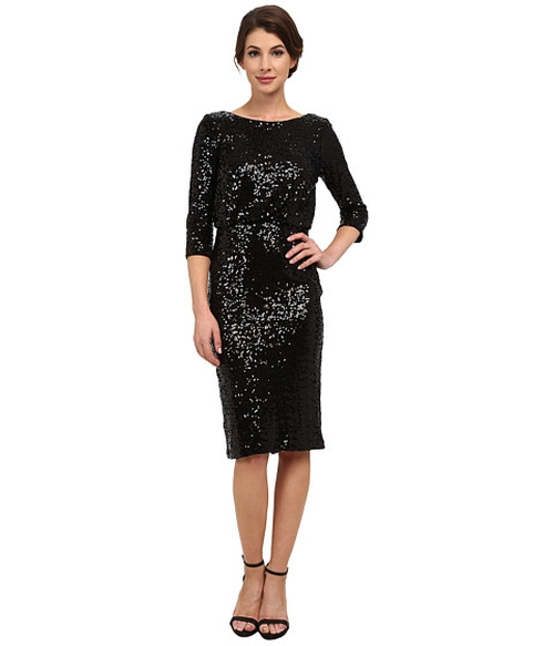 Stretch Sequin Blouson Cocktail Dress by Badgley Mischka in American Horror Story