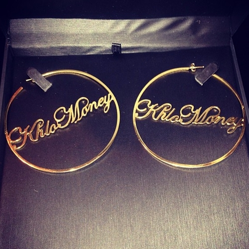 KhloMoney Hoop Earrings by Custom in Keeping Up With The Kardashians - Season 12 Episode 1
