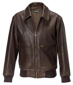 Men's Lambskin Flight Jacket by J. Peterman in X-Men: Days of Future Past