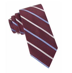 Silk Dotted Stripe Tie by Black Brown 1826 in Silicon Valley
