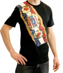 Championship Belt on Shoulder T-Shirt by TV Store Online in Fast Five