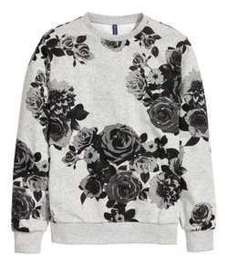 Graphic Floral Print Sweatshirt by H&M in New Girl