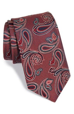 Woven Silk Tie by Nordstrom in Regression