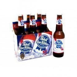 12 OZ Beer Bottles - 6 pack by Pabst Blue Ribbon in Neighbors
