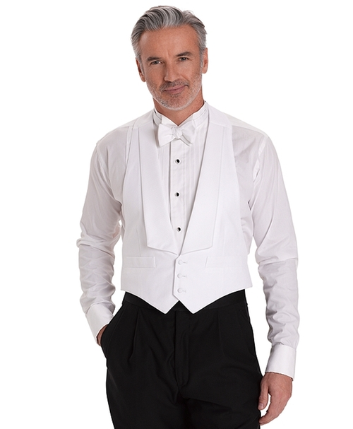 Cotton Pique Tuxedo Vest by Brooks Brothers in Crimson Peak