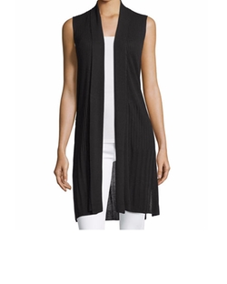Long Ribbed-Knit Open Cardigan by Neiman Marcus in Fuller House