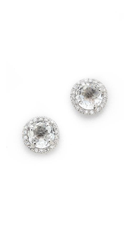 Diamond White Topaz Stud Earrings by EF Collection in The Other Woman
