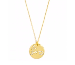 Pavé Zodiac Constellation Pendant Necklace by Baublebar in Pretty Little Liars