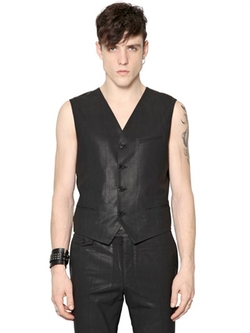 Coated Wool Vest by Diesel Black Gold in Top Five