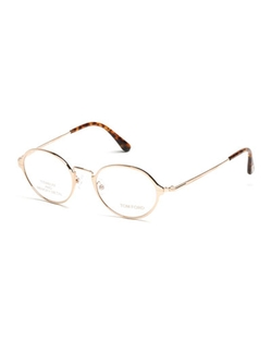 Round Metal Eyeglasses by Tom Ford in Knock Knock