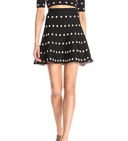 Women's Gloriah Jacquard Skirt by BCBGMAXAZRIA in Fuller House