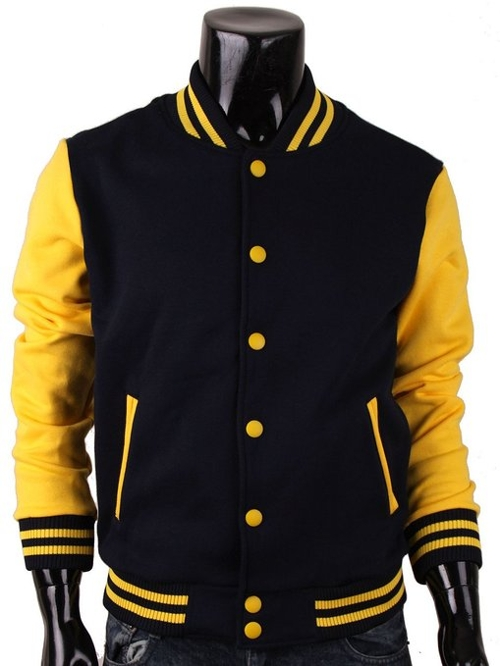 Men's Baseball Letterman Varsity Sweatshirt Jacket by BCPOLO in Mean Girls