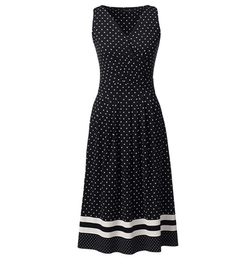 Women's Fit and Flare Dress by Lands' End in Pretty Little Liars