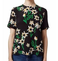 Daisy Print Silk Tee Shirt by Topshop in Pretty Little Liars