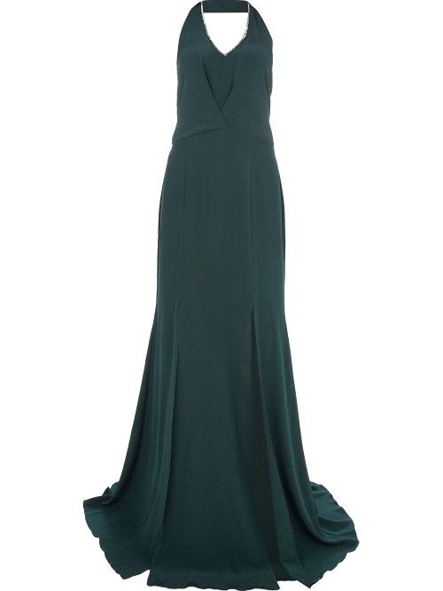 Halterneck Flared Gown by Saloni in The Other Woman