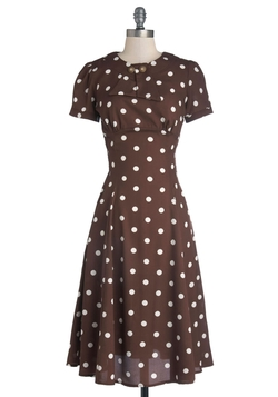 Believe It Or Dot Dress by Mod Cloth in Brooklyn