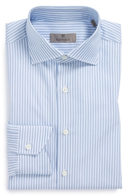 Regular Fit Stripe Dress Shirt by Canali in Survivor