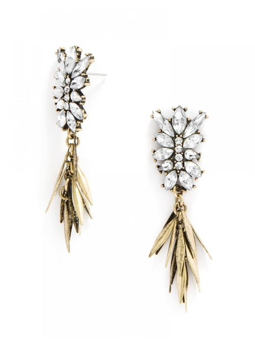 Fringe Fir Tassel Drop Earrings by Baublebar in Pretty Little Liars - Season 6 Episode 10