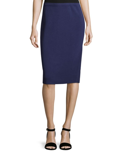 Silk-Cotton Pencil Skirt by Eileen Fisher in How To Get Away With Murder - Season 3 Episode 1