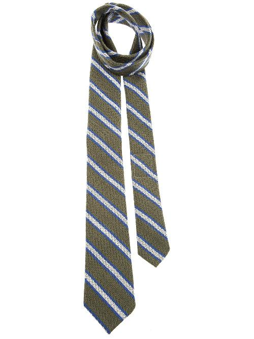 striped knitted tie by THOM BROWNE in Sabotage