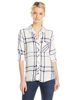 Hunter Plaid Button Down Shirt by Rails in Thor