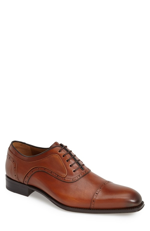 'March' Cap Toe Oxford Shoes by Mezlan in Ballers