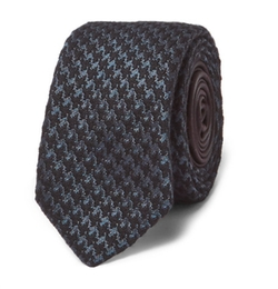 Houndstooth Wool And Silk Blend Tie by Prada in Marvel's Iron Fist
