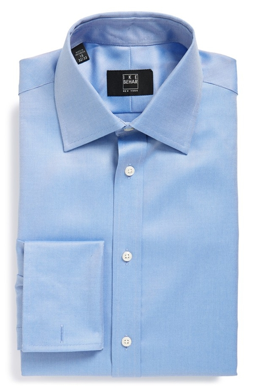 Fit Solid Dress Shirt by Ike Behar in The Bourne Ultimatum