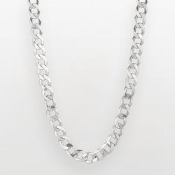 Sterling Silver Curb Chain Necklace by Kohl's in Blackhat