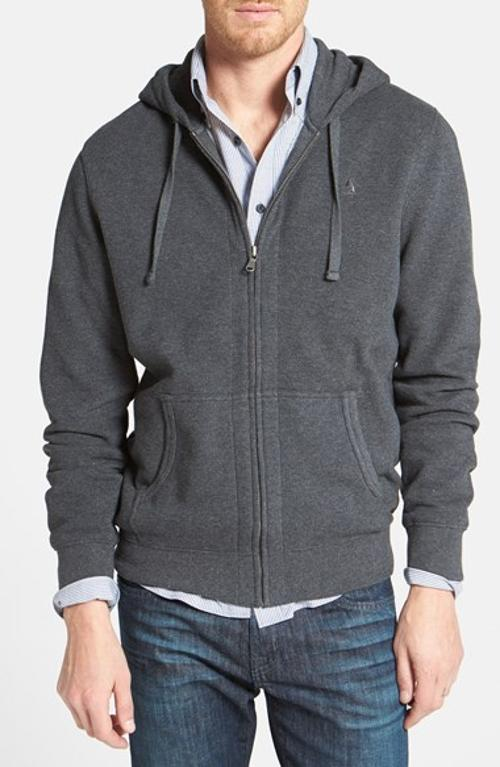 Full Zip Piqué Knit Hoodie by Nordstrom in Wish I Was Here