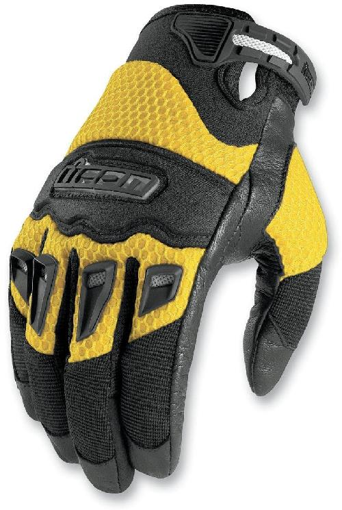 Twenty Niner Gloves - Large/Yellow by Icon in Sabotage